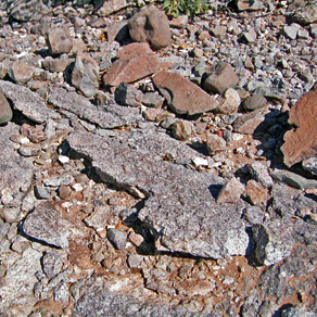 These rocks have been weathered away over millions of years.