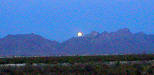 A lunar eclipse is an amazing site from the Chihuahuan Desert Nature Park as the moon rises over the Organ Mountains
